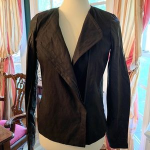 VINCE - NEW Leather Sleeve Jacket Size 4 with tags